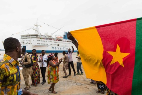 Mercy Ships i Cameroun for første gang